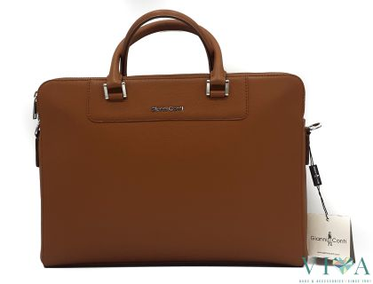 Office Bag Gianni Conti from Saffiano leather 491230 cappuccino