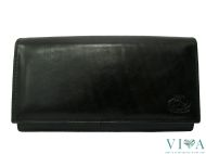 Women's Leather  Wallet Avorio 233 black