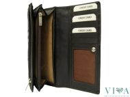 Women's Leather Wallet Gianni Conti 1638250 dark brown