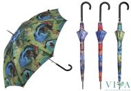 Woman's Automatic  Umbrella  M&P 4848 multi with red