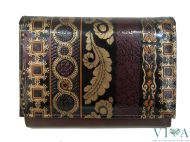 Women's Leather Wallet Talja 01 dark brown