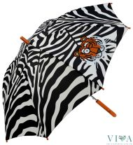 Children's Long Umbrella Kukuxumusu  66158 black with white