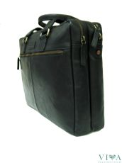 Men's leather bag for documents 1221265 black