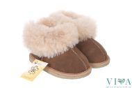 Children slippers model 13 brown