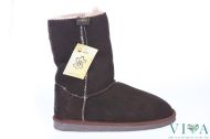 Children boots model 12 dark brown