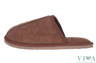 Mens Slippers Dark Brown