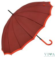 Woman's Long  Umbrella Bisetti 3420 coral