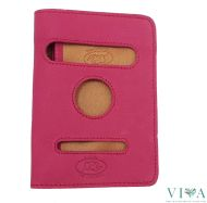 Women's Leather Wallet Avorio 8118 red