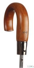 Man's Automatic Umbrella M&P 235 black with wooden handle