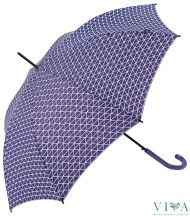 Women Automatic Bisetti Umbrella 34128 lilac with white motives