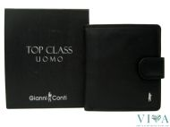 Men's Leather Wallet Gianni Conti Top Class 507042 black